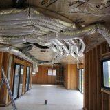 Climatisation réversible dans une maison en construction